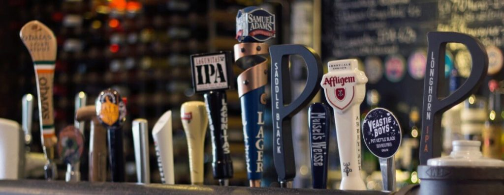 We stock an array of Craft Beer on tap